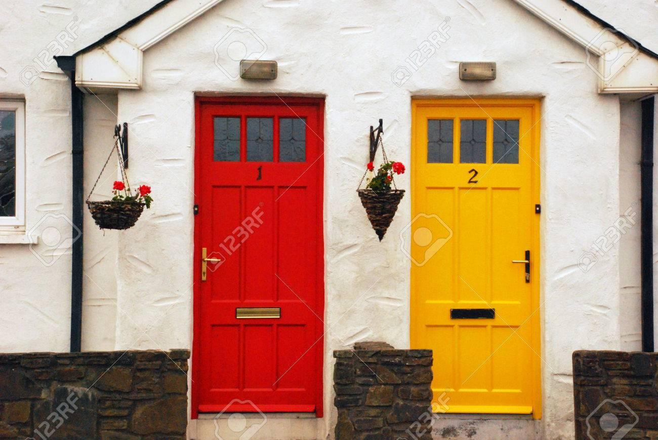 Irish Cottage Doors Stock Photo - 58016272 & Irish Cottage Doors Stock Photo Picture And Royalty Free Image ...