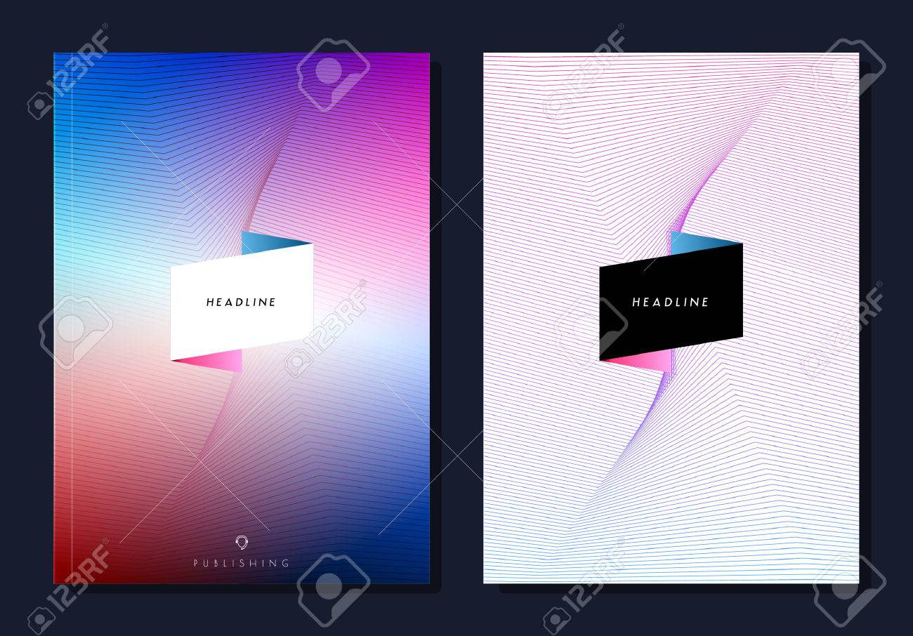 Set of abstract colourful layout brochure, magazine, flyer, booklet design, cover or report in A4. - 52680743