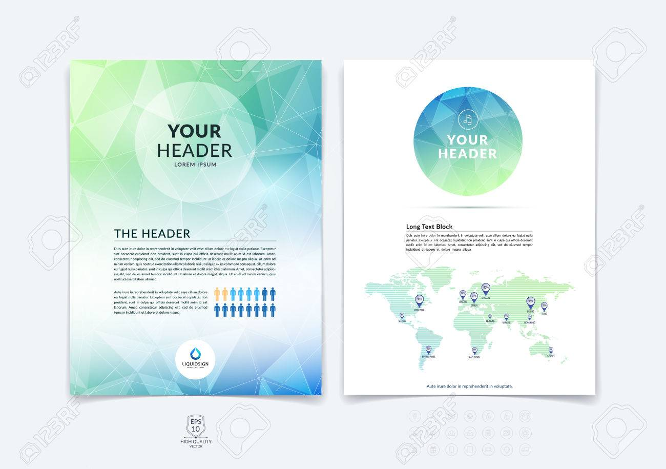 brochure design flyer cover booklet and report layout template