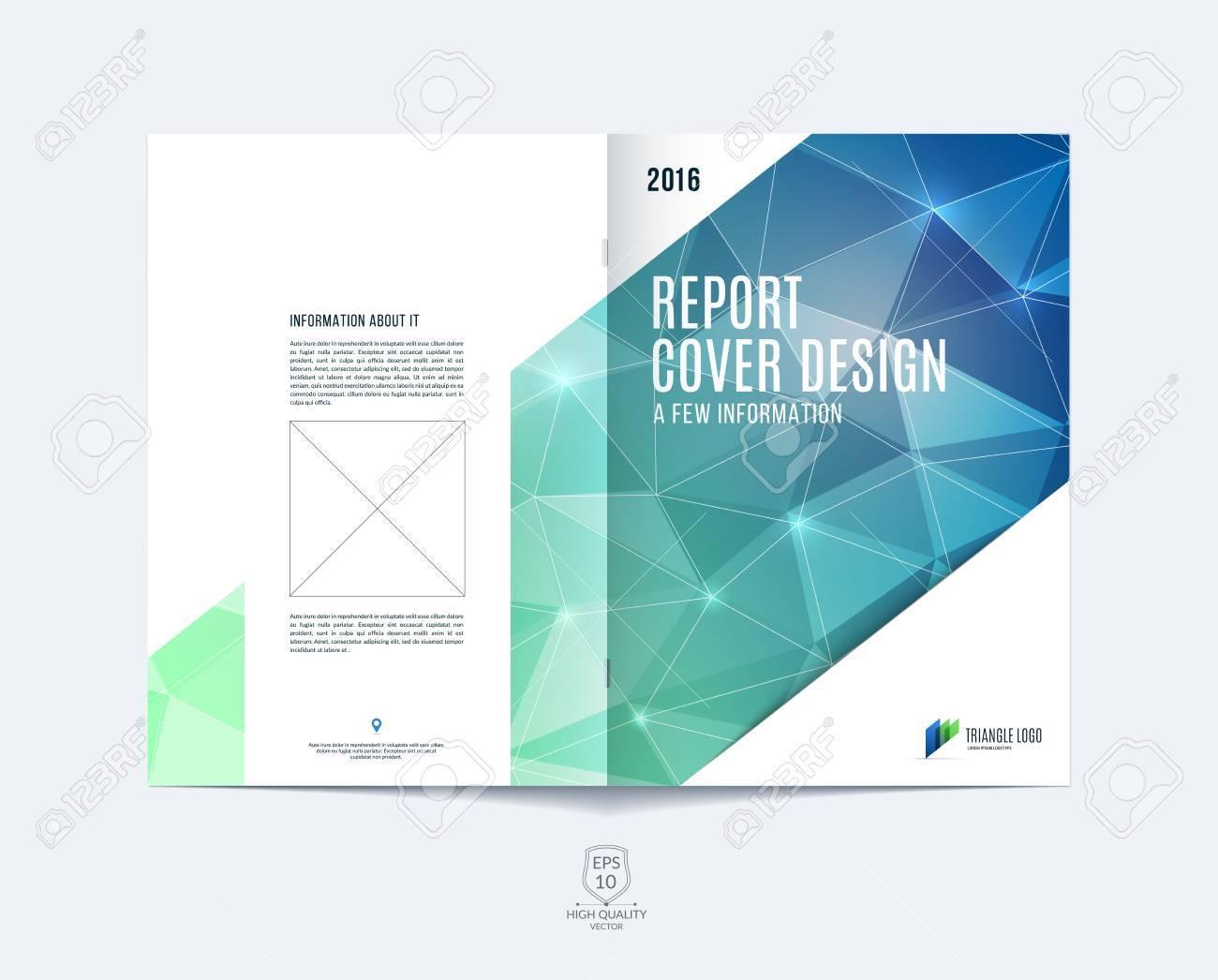 Mise En Page De Modèle Brochure Conception De La Couverture Rapport Annuel Magazine Dépliant Ou Brochure Au Format A4 Avec Bleu Vert Formes