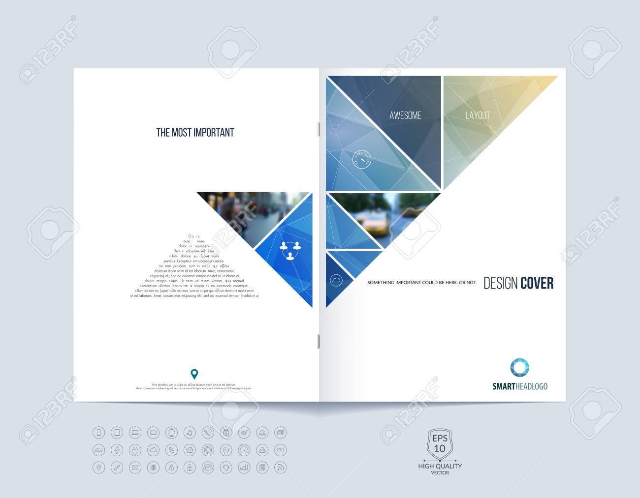 Plantilla De Diseño De Folletos, Diseño De Portada Del Informe Anual ...