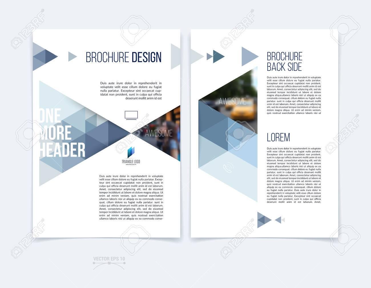 Conjunto De Diseño De La Plantilla De Folleto, El Informe Anual De ...