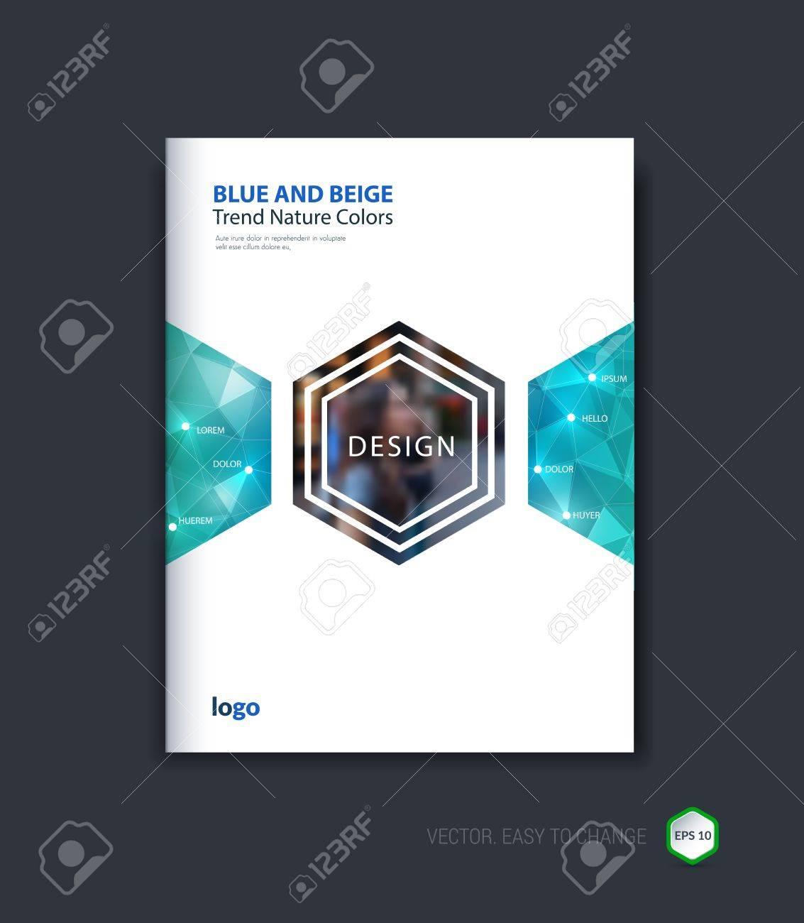 Abstrakt Cover-Design, Business-Broschüre Vorlage Layout, Bericht ...