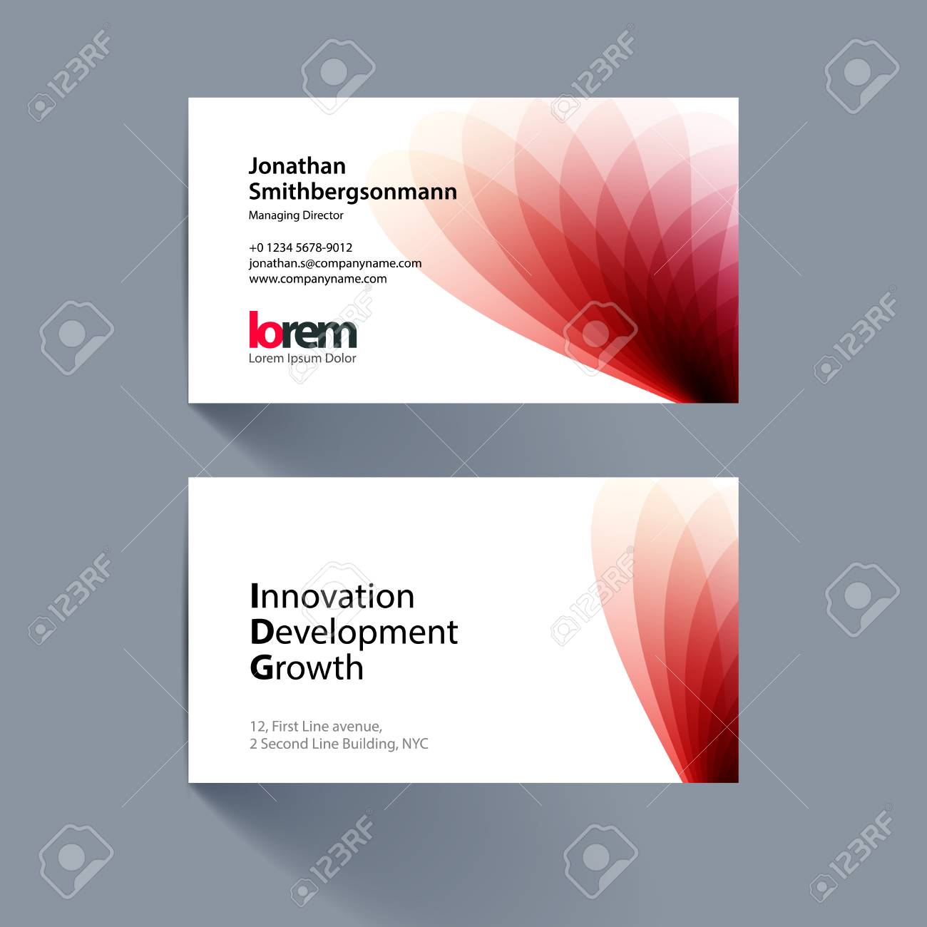 Vector business card template with red soft shapes and waves vector vector business card template with red soft shapes and waves background for business and beauty with beautiful overlap effect colourmoves