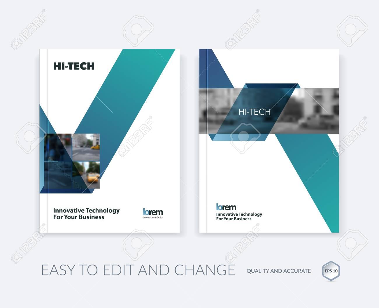 Set Von Vector Design For Cover Jahresbericht. Broschüre Oder Flyer ...