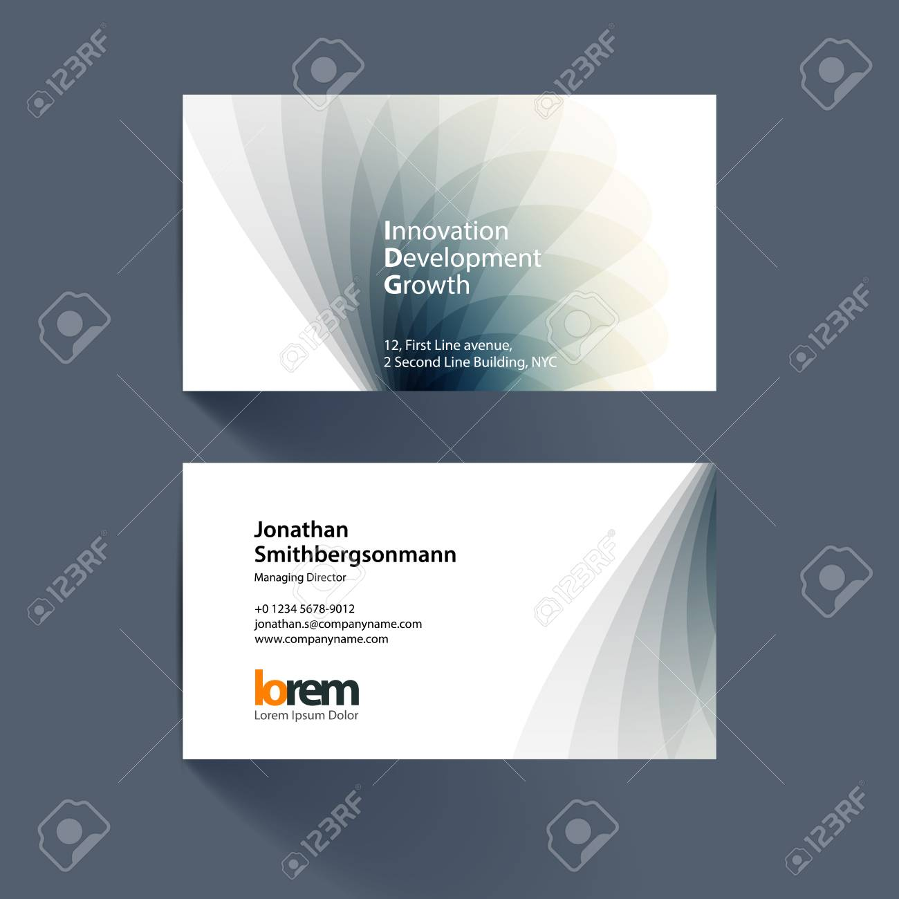 Vector business card template with grey soft shapes and waves vector vector business card template with grey soft shapes and waves background for business and beauty with beautiful overlap effect accmission Gallery