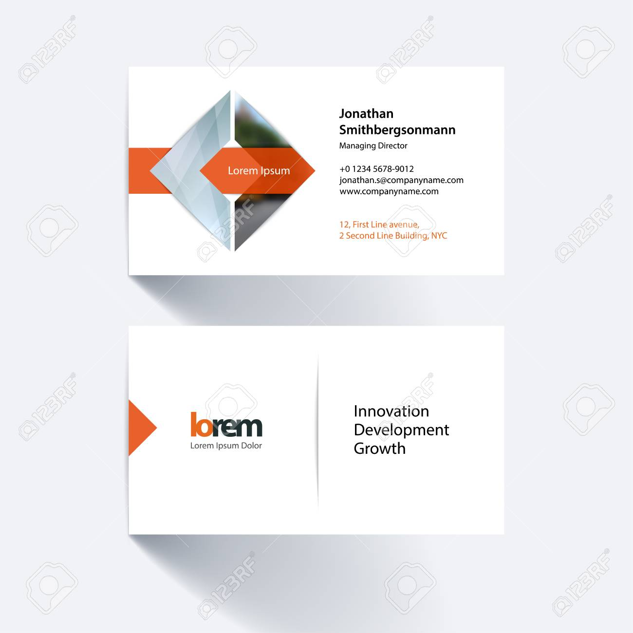 Vector Carte De Visite Modle Avec La Forme Gomtrique Et Leffet Chevauchement Pour Les Livres Daffaires Concept Industriel Science