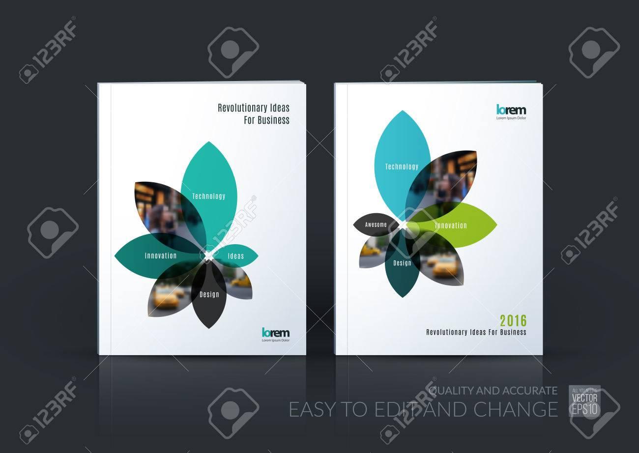 Broschüre layout vorlage sammlung cover design jahresbericht