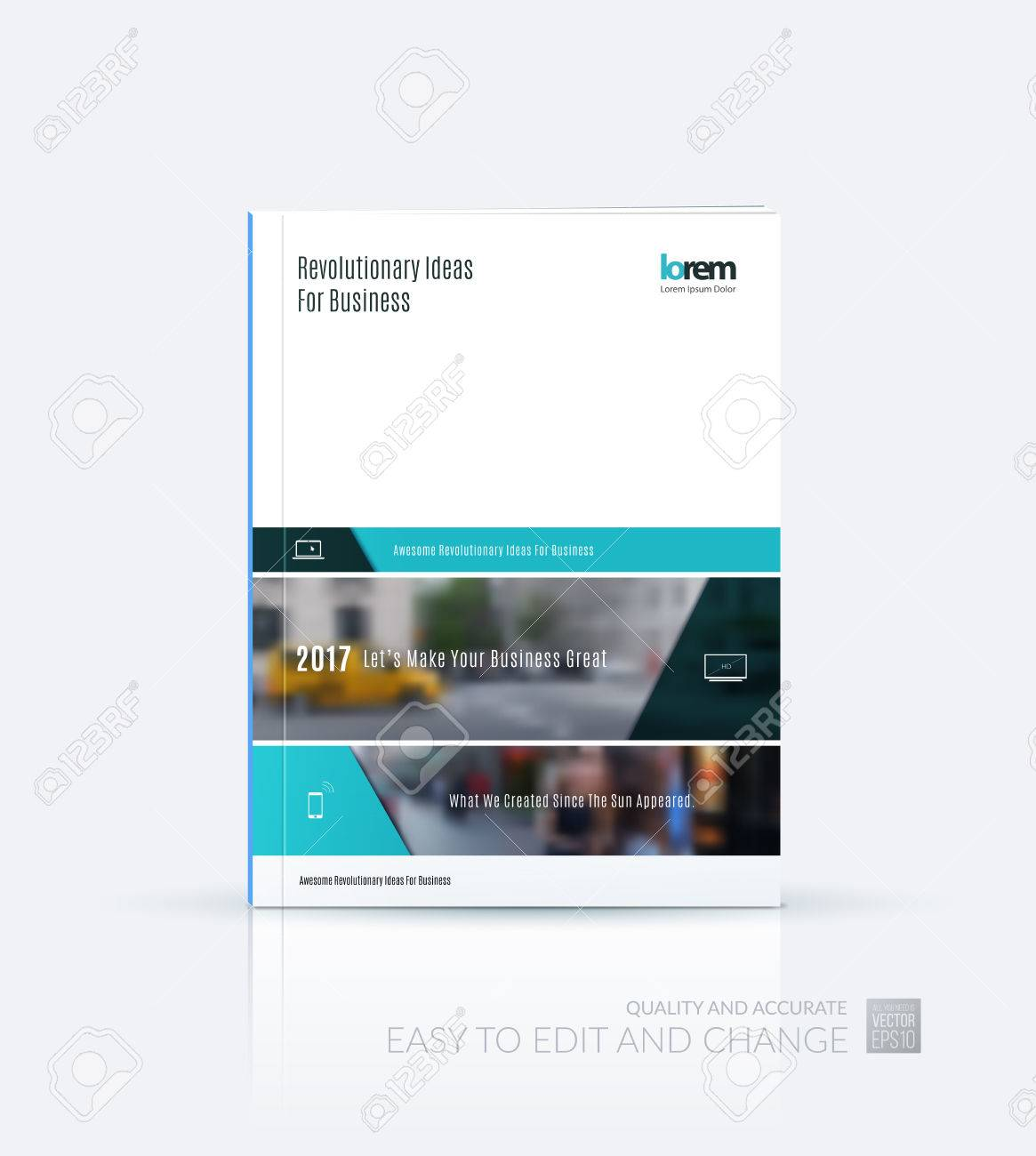 Broschüre Layout-Vorlage Sammlung, Cover-Design Jahresbericht ...