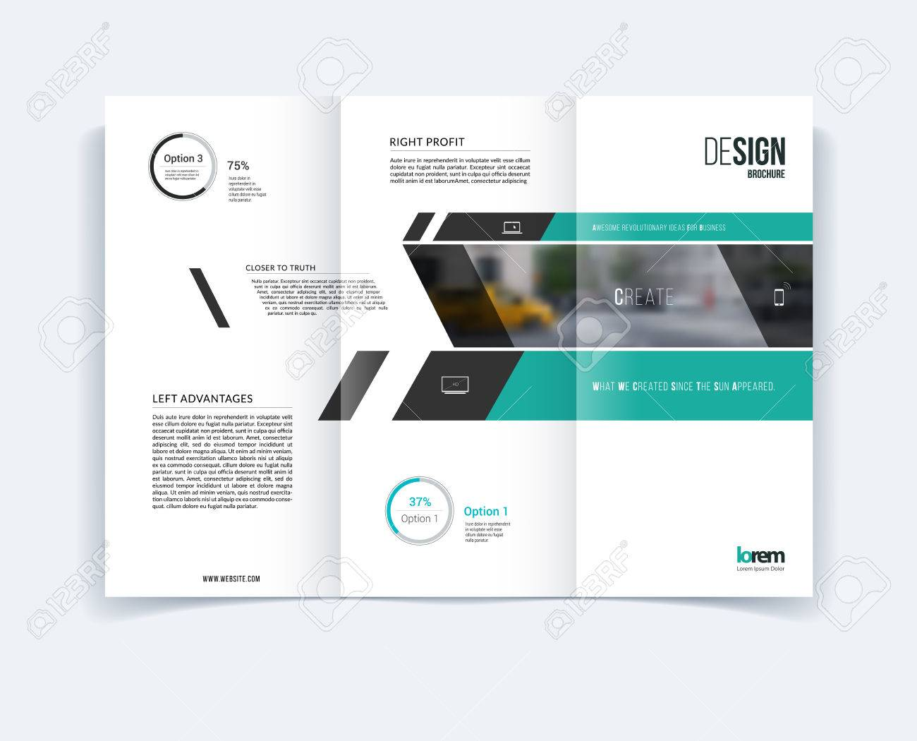 Trifold Brochure Template Layout Cover Design Flyer In A - A4 tri fold brochure template
