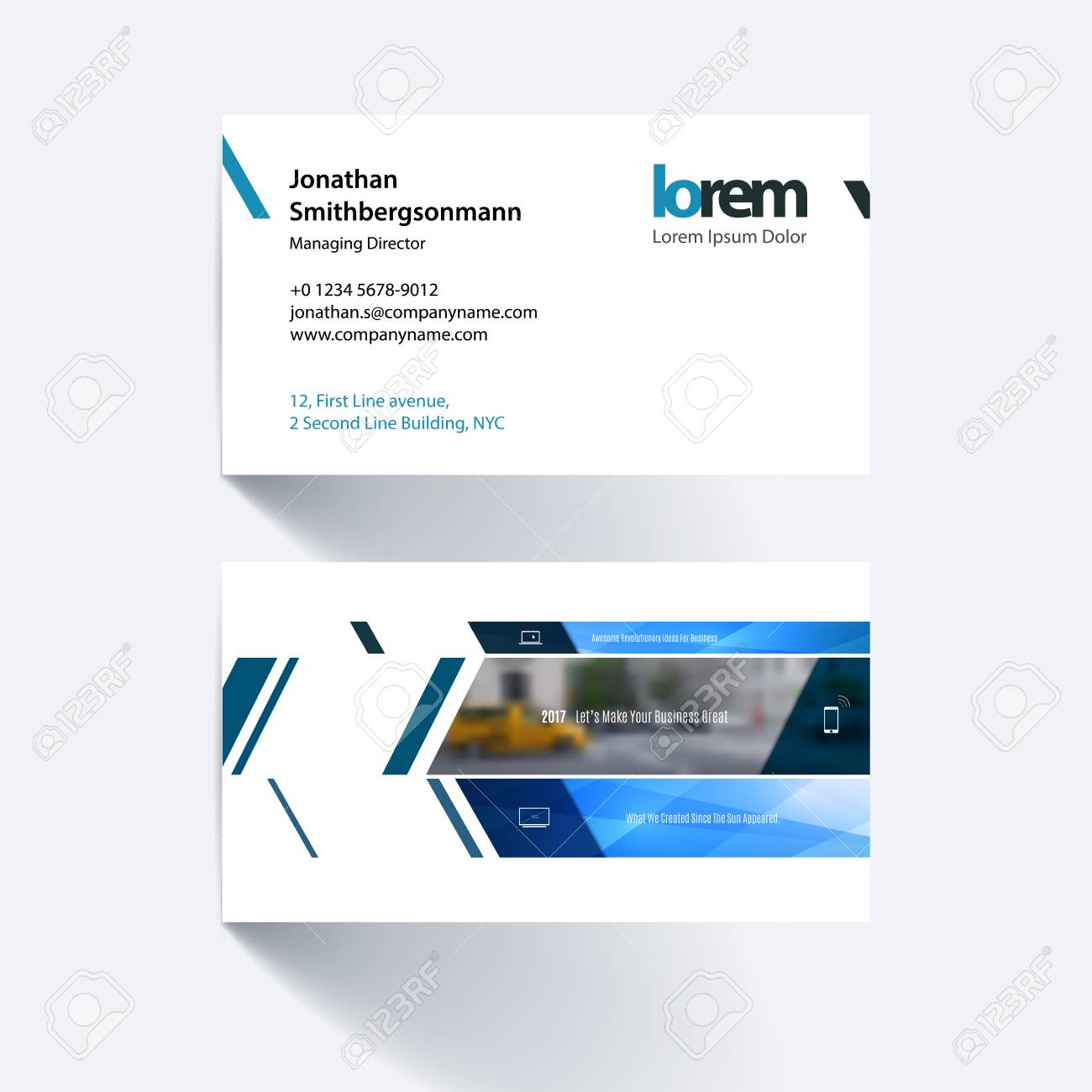 Vector business card template with banner and diagonals for vector business card template with banner and diagonals for engineering business building reheart Choice Image