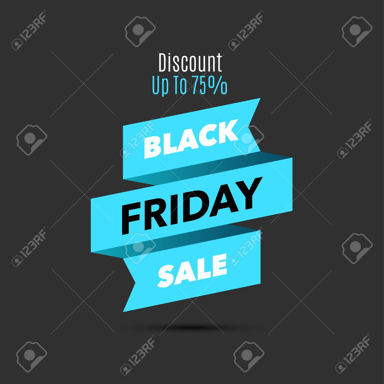 Black Friday Sale Design Template Creative Banner Vector Blue