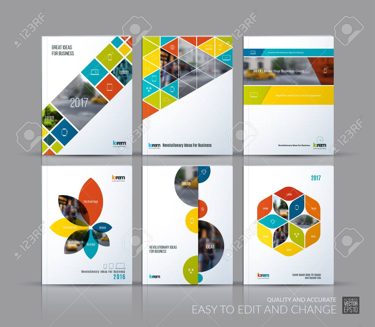 Decken Sie Designjahresbericht, Broschürenschablonenplan ...