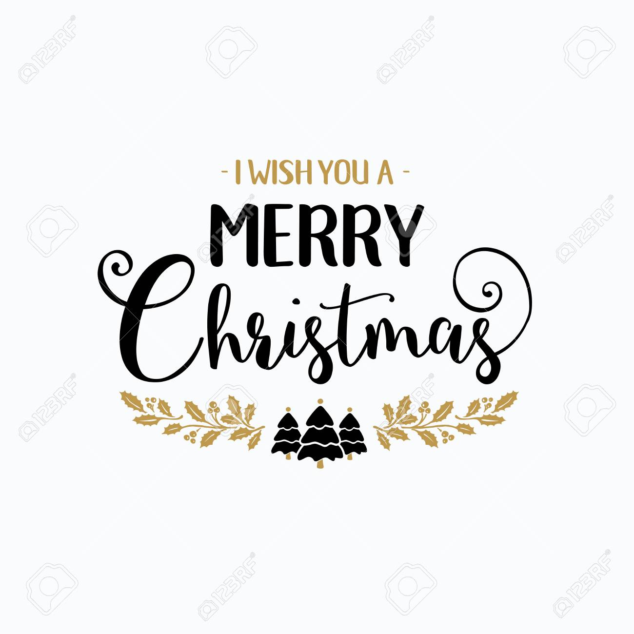 Christmas Lettering.Merry Christmas Lettering Typography Handwriting Text Design