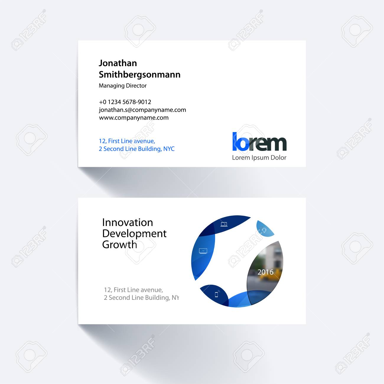 Vector business card template with blue circle soft shapes vector business card template with blue circle soft shapes round for it business colourmoves