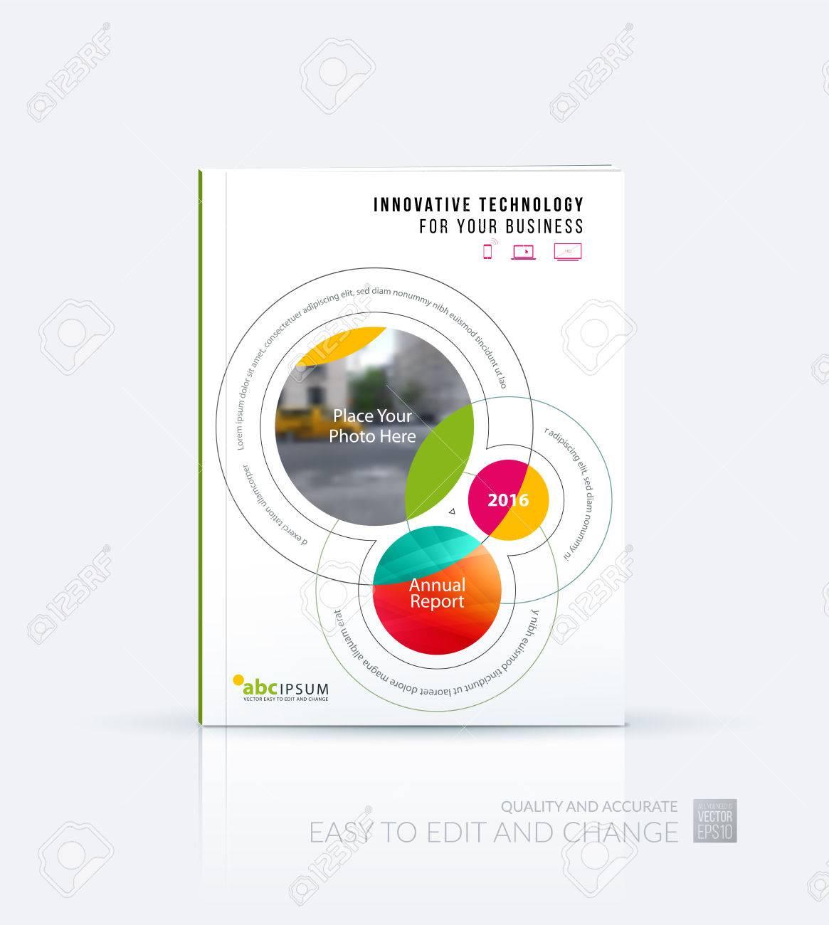 Vector De Negocio. Folleto De Diseño De Plantilla, El Informe Anual ...