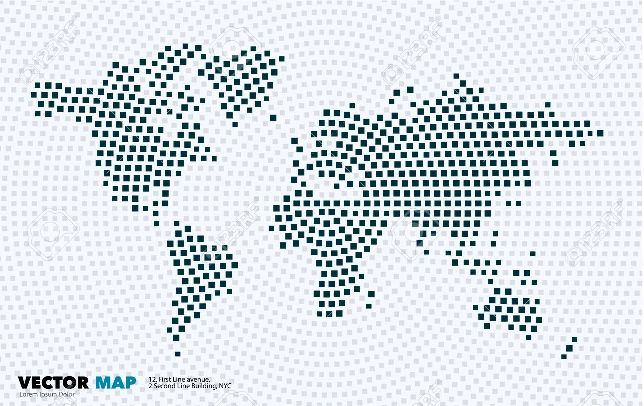 Vector world map with squares rectangles for business templates vector vector world map with squares rectangles for business templates gumiabroncs Image collections