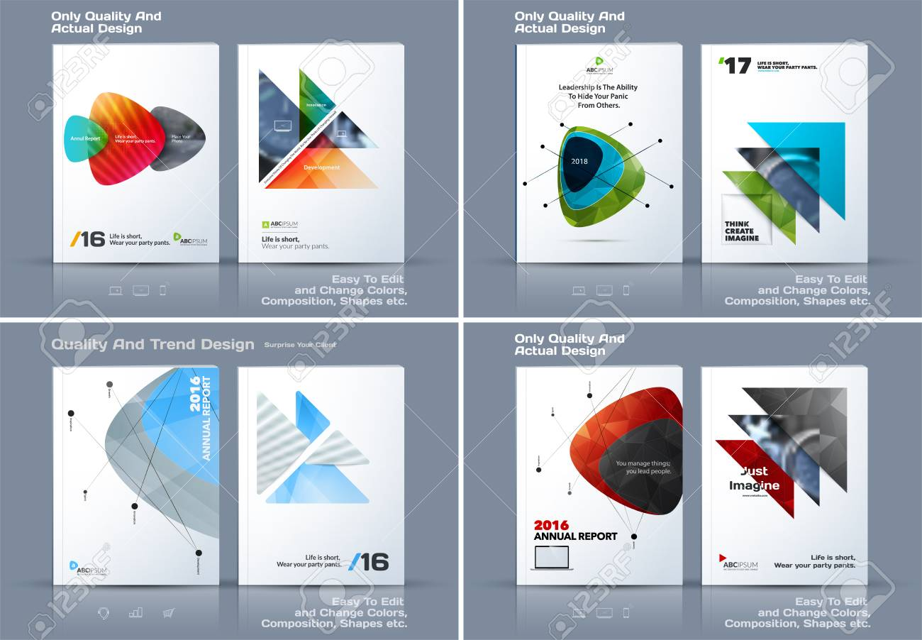 abstract annual report business vector template brochure design