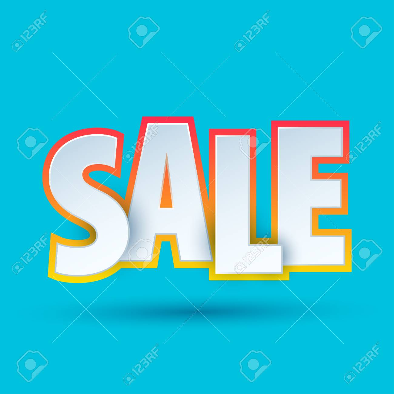 sale banner template design special offer colourful letters