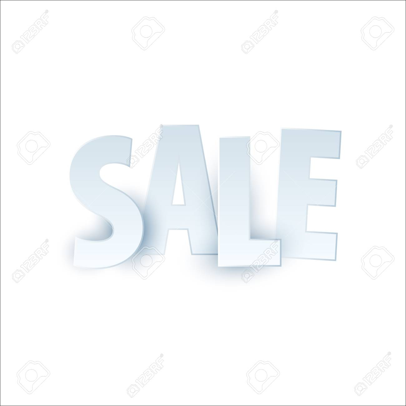sale banner template design special offer colourful letters for
