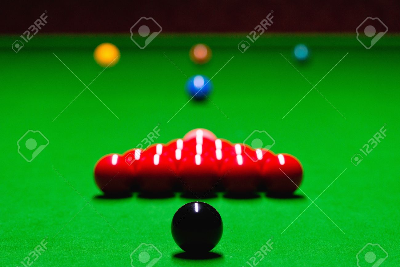 snooker table setup balls in starting position stock photo picture rh 123rf com how to set up a pool table properly how to set up a pool table red and yellow