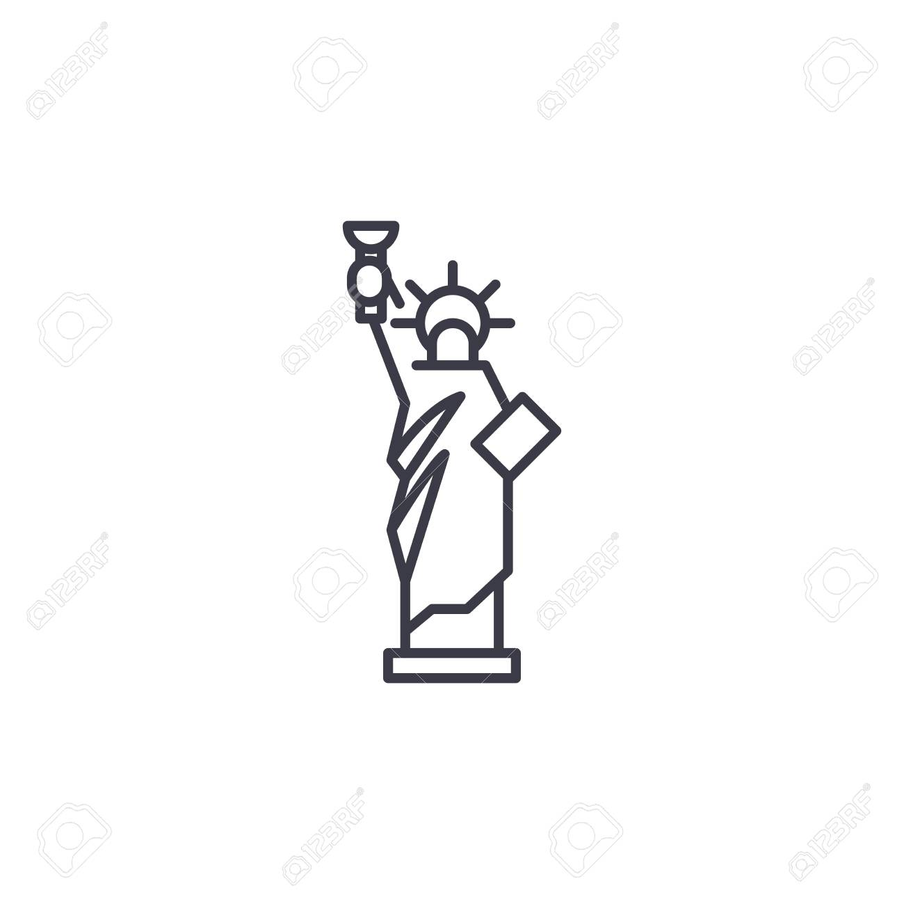 Statue Of Liberty Linear Icon Concept Statue Of Liberty Line Royalty Free Cliparts Vectors And Stock Illustration Image 102427208