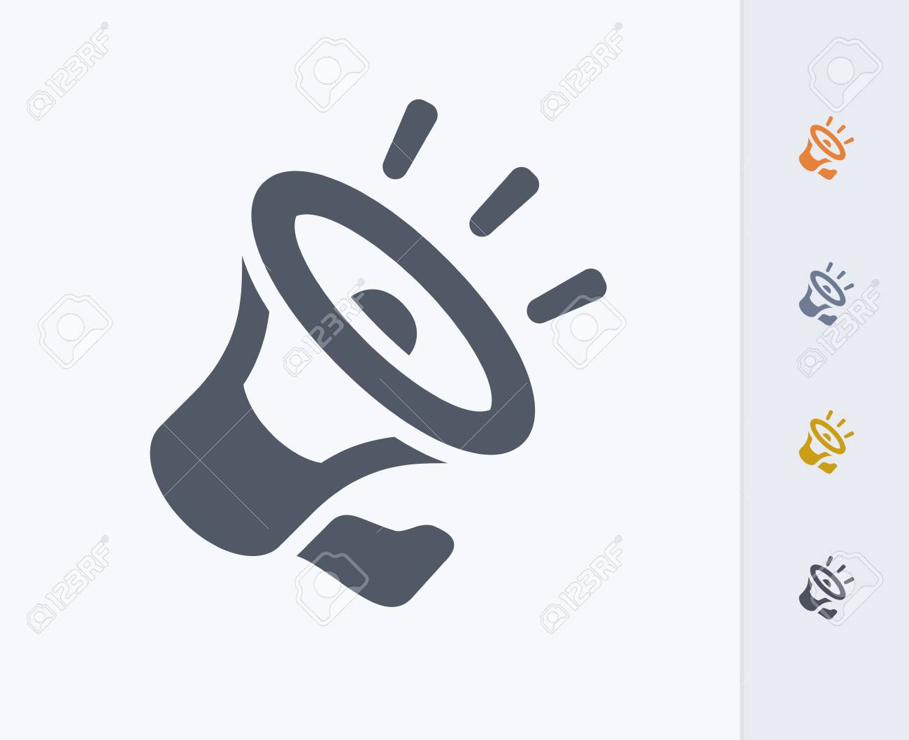 Loudspeaker Icon Royalty Free Cliparts, Vectors, And Stock ...
