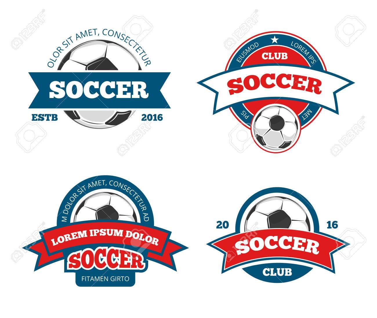 Fußball-Logo-Vorlagen. Fußball-Logos Oder Fußball Logos, Sport Team ...