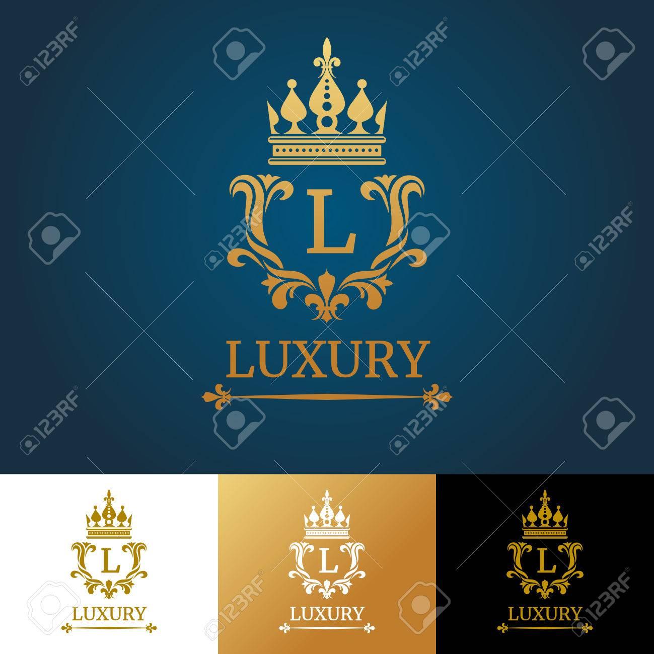 Monogramm Mit Krone. Royal Design Vektor-Logo-Vorlage. Königliche ...