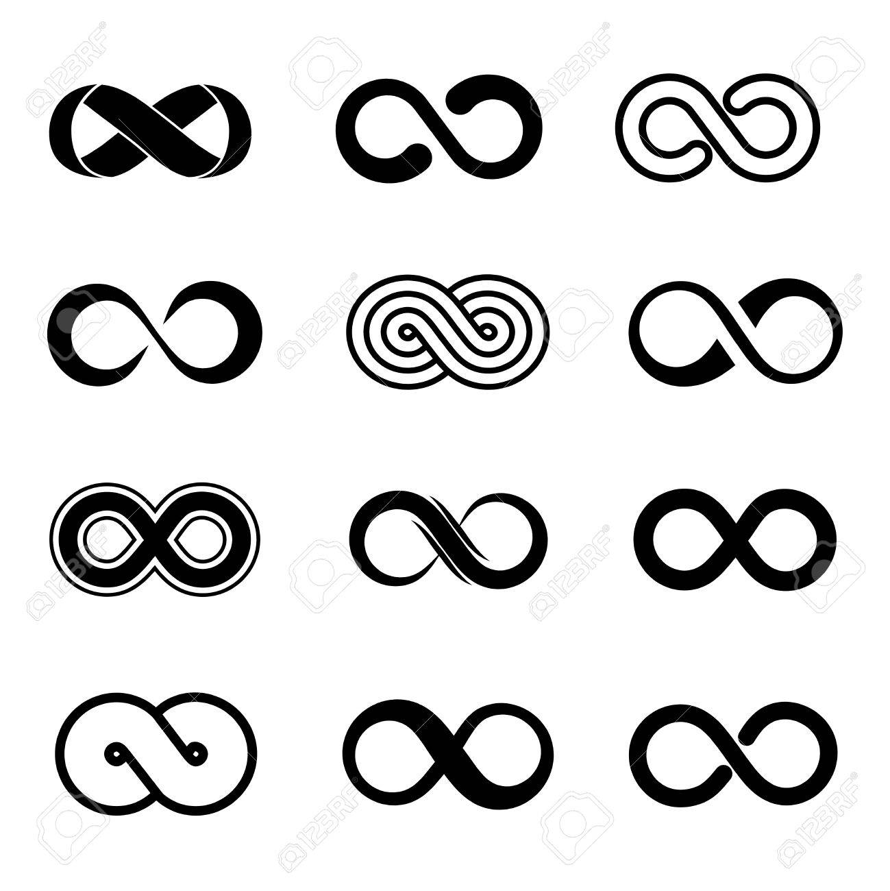 Infinity Symbol Vector Set Infinity Sign Endless Infinity