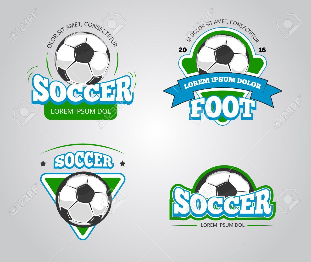 Foto de archivo - Insignias de fútbol vector de fútbol 3e08905a7a546