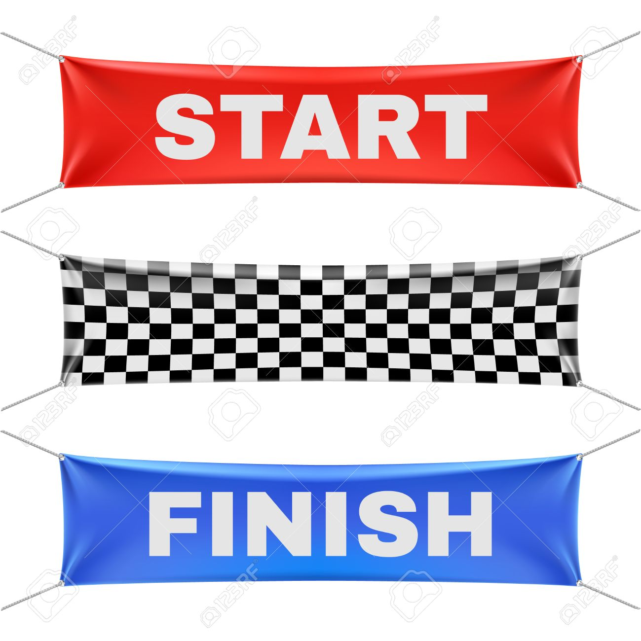 Starting Finishing And Checkered Vinyl Banners With Folds Royalty Free Cliparts Vectors And Stock Illustration Image 57405016