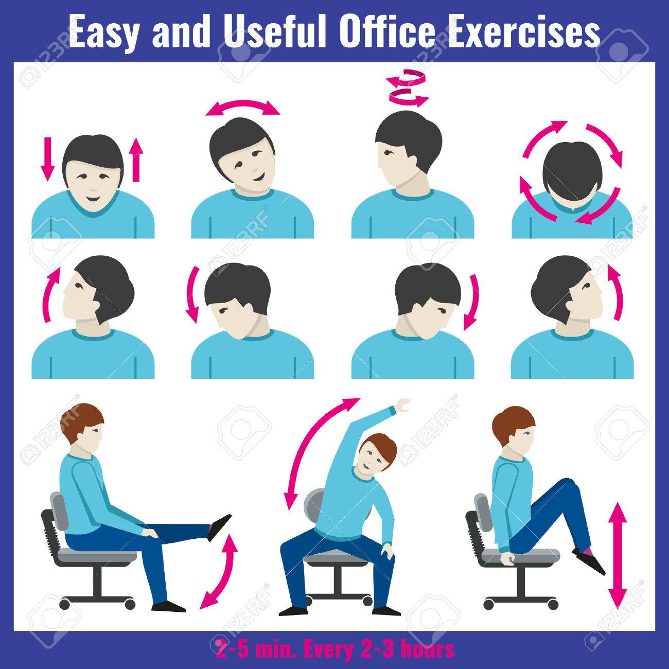 Office Syndrom Gesundheitswesen Konzept Vektor Infografik Syndrom