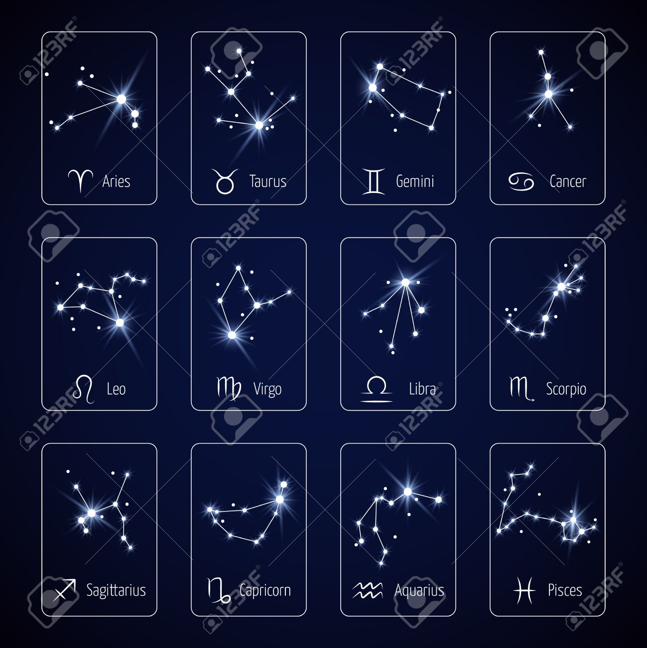 Zodiac sign all horoscope constellation stars for mobile application vector zodiac sign all horoscope constellation stars for mobile application vector template constellation for horoscope and zodiac constellation virgo ccuart Images