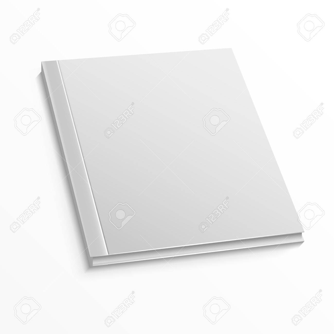 blank magazine cover template on white background mockup for