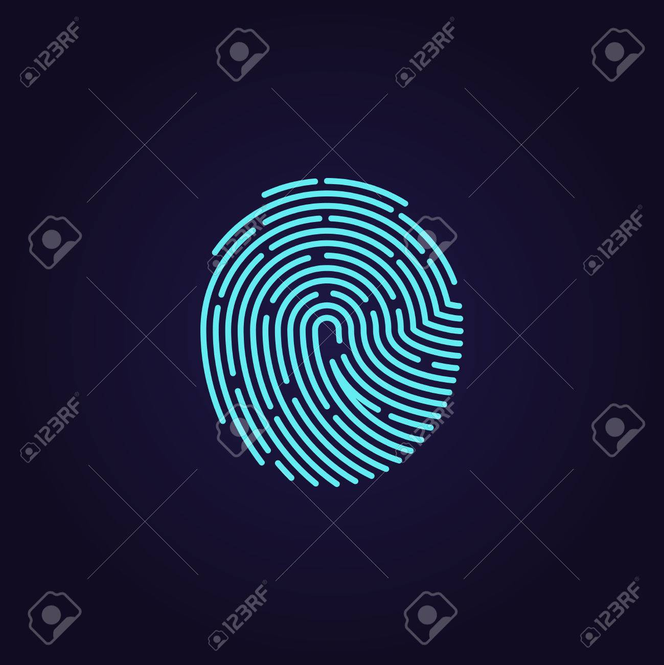 fingerabdruck muster fr sicherheit und schutz illustration passwort - Muster Passwort