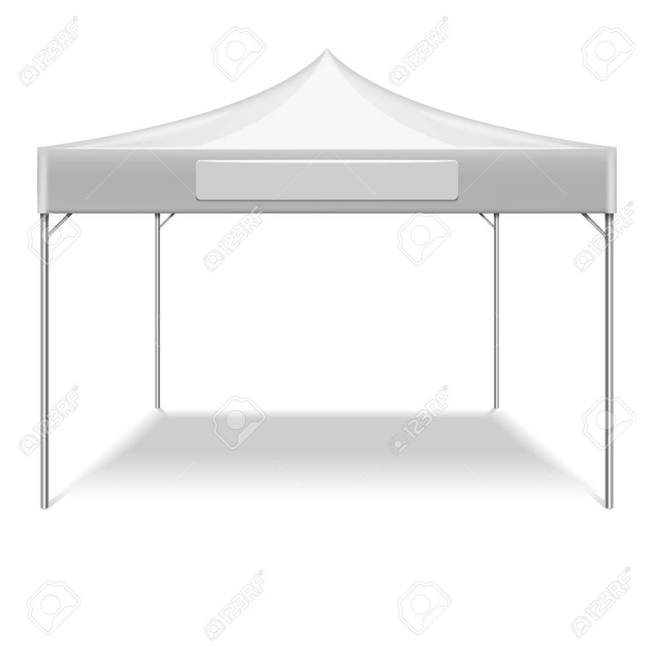 Realistic white folding tent for outdoor party in garden. Vector mockup tent for protection from  sc 1 st  123RF.com & Realistic White Folding Tent For Outdoor Party In Garden. Vector ...