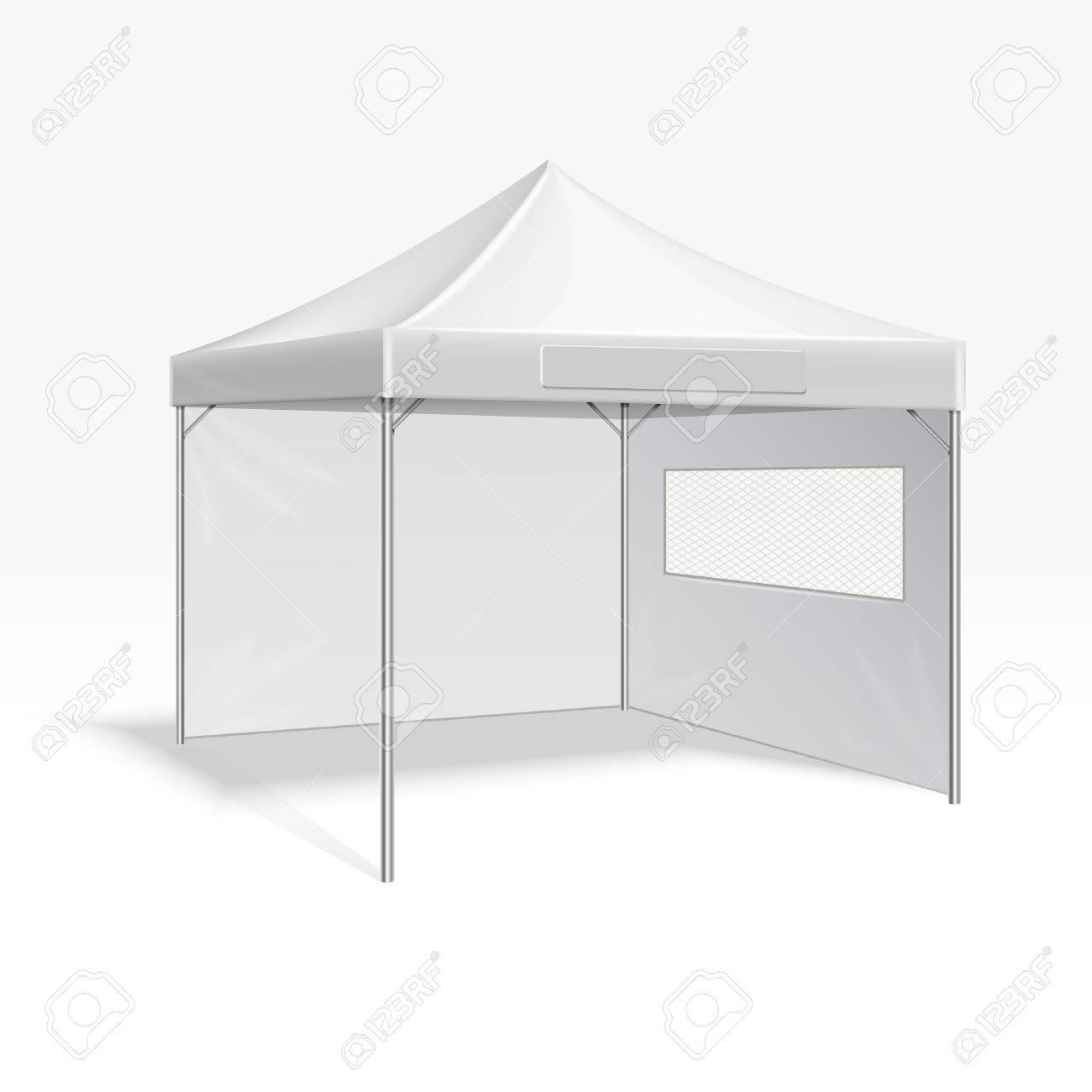 Werbe-Faltzelt Vektor-Illustration Für Outdoor-Event. Abdeckrahmen ...