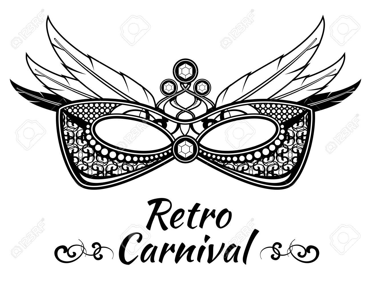 Carnival Vector Background Poster Flayer Invitation With Masquerade ...