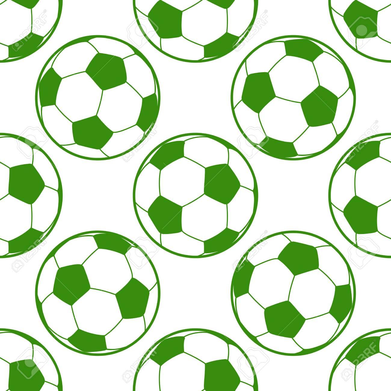Balón de fútbol de fondo sin fisuras. Patrón de fútbol transparente con  pelota 870a90bac0754