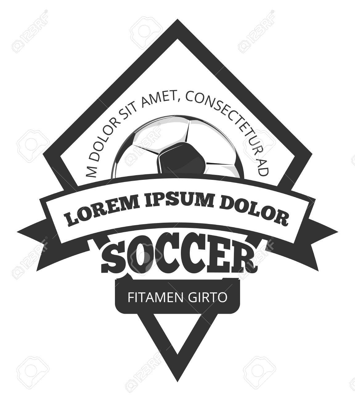 Vector Soccer Logo Template, Emblem In Black For Football Team ...