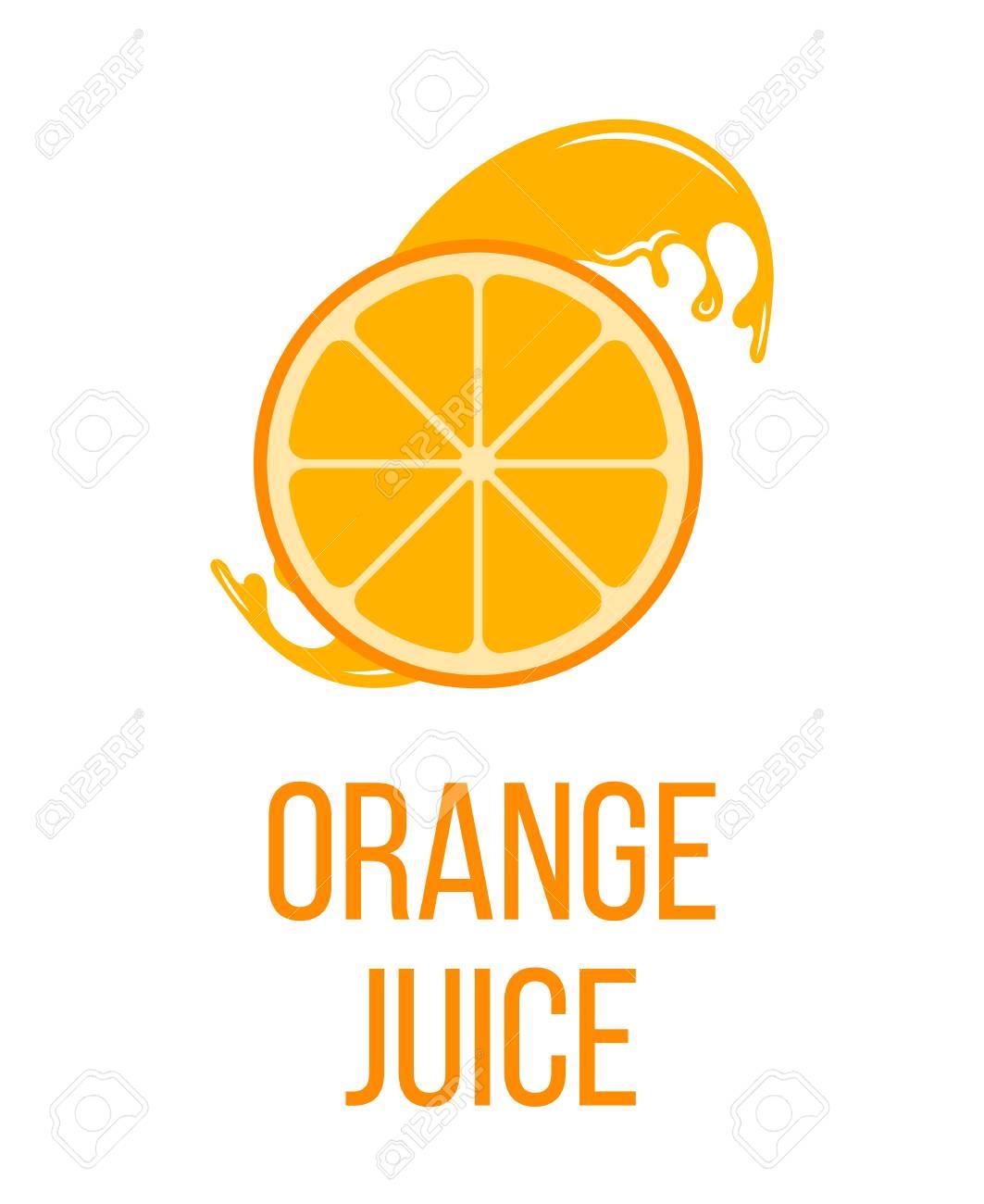 orange juice logo label isolated on white background fresh rh 123rf com Glass of Orange Juice Orange Juice in a Word