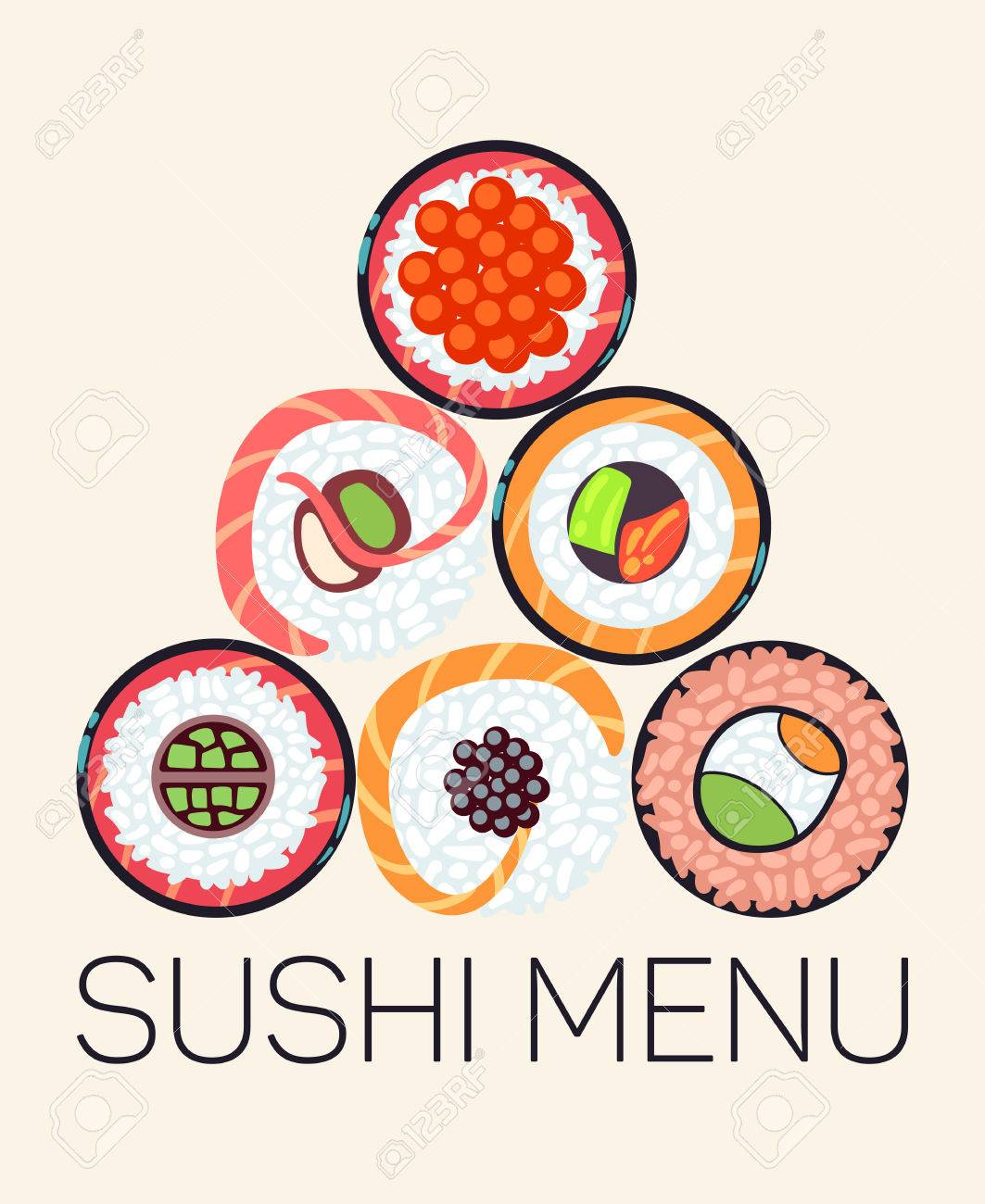 Japanese restaurant sushi menu template asian menu with roll japanese restaurant sushi menu template asian menu with roll vector illustration stock vector pronofoot35fo Gallery