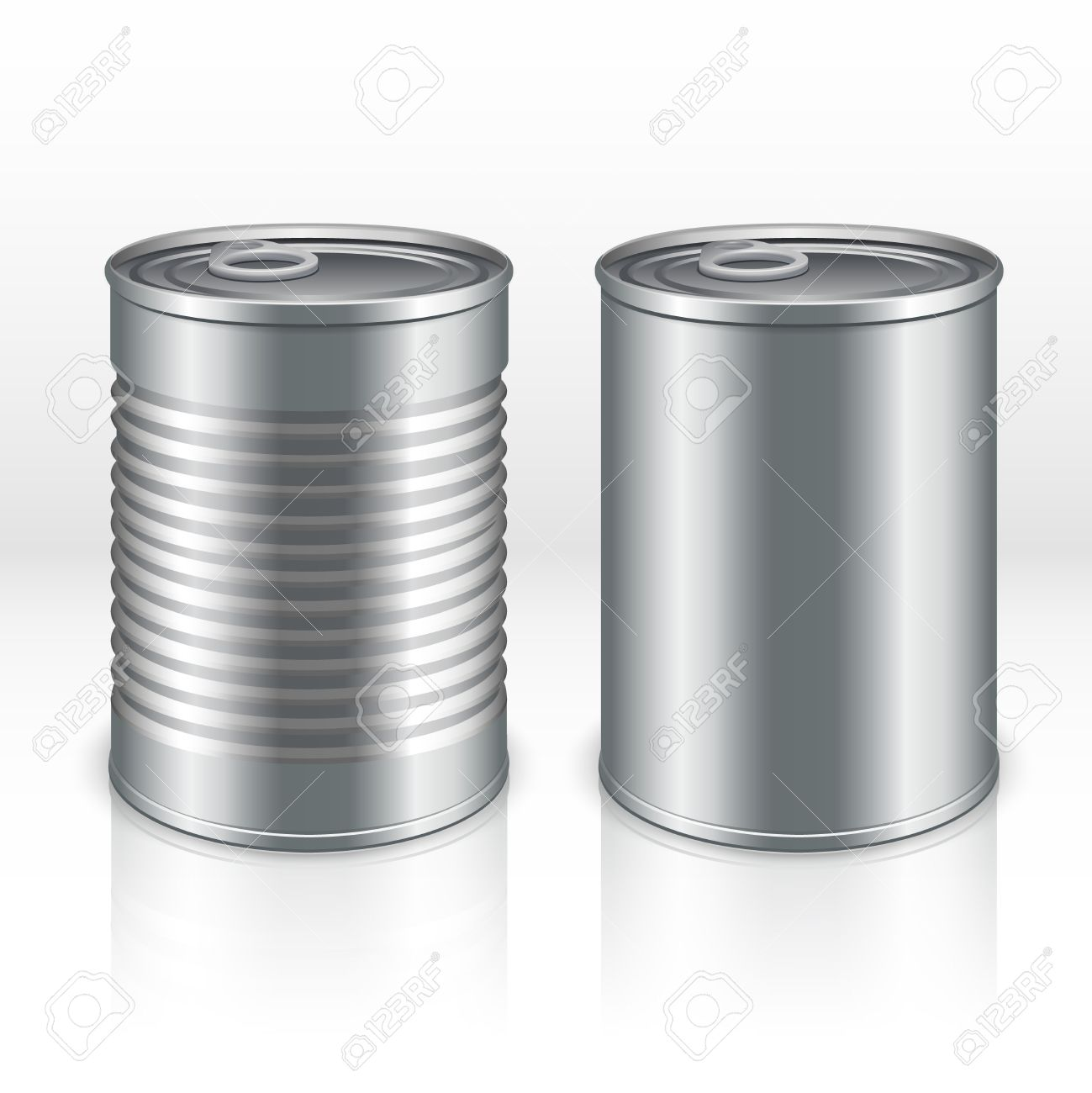 Transparent Aluminium Blank Metal Products Container Tin Cans Isolated On Transparent