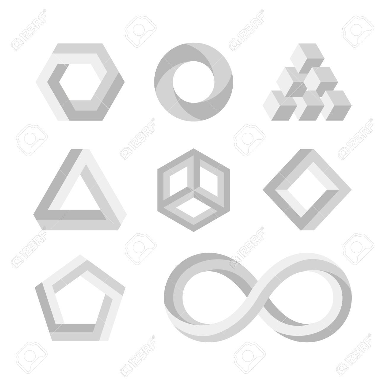 Paradox impossible shapes 3d twisted objects vector math symbols paradox impossible shapes 3d twisted objects vector math symbols stock vector 66411125 buycottarizona Image collections