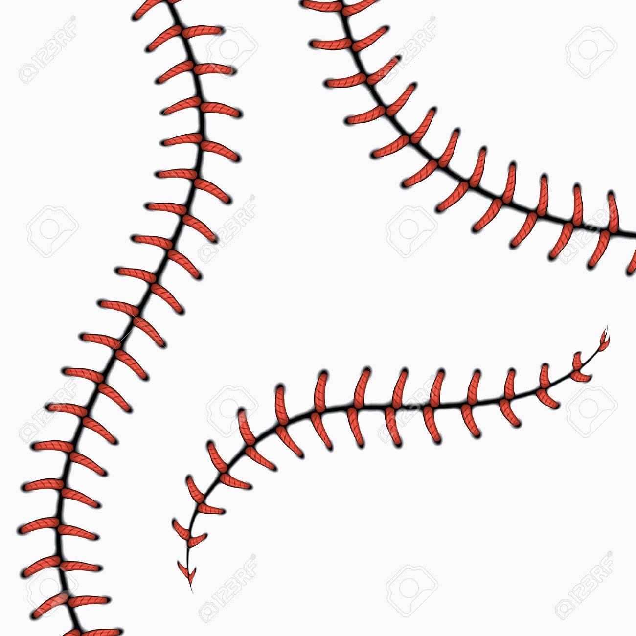 baseball stitches softball laces isolated on white vector set rh 123rf com baseball seams vector art baseball art vector