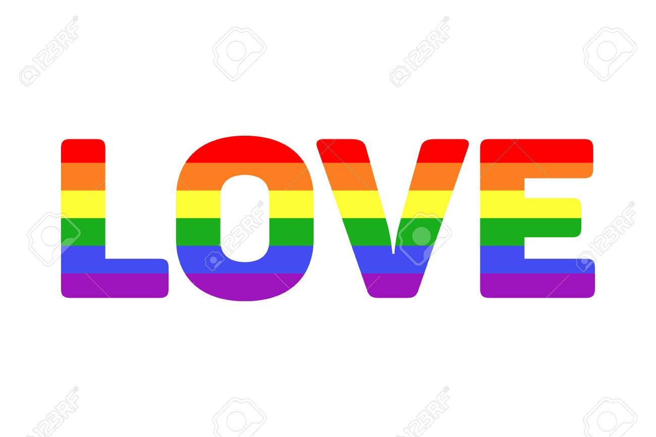 Vector Vector Lgbt Rainbow Love Word Colorful Text Love Il Ration