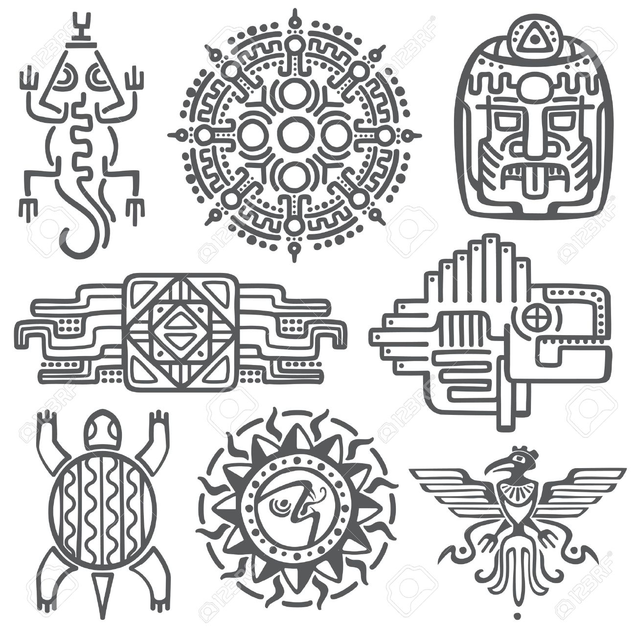 Mexican Aztec Symbols Choice Image Meaning Of This Symbol
