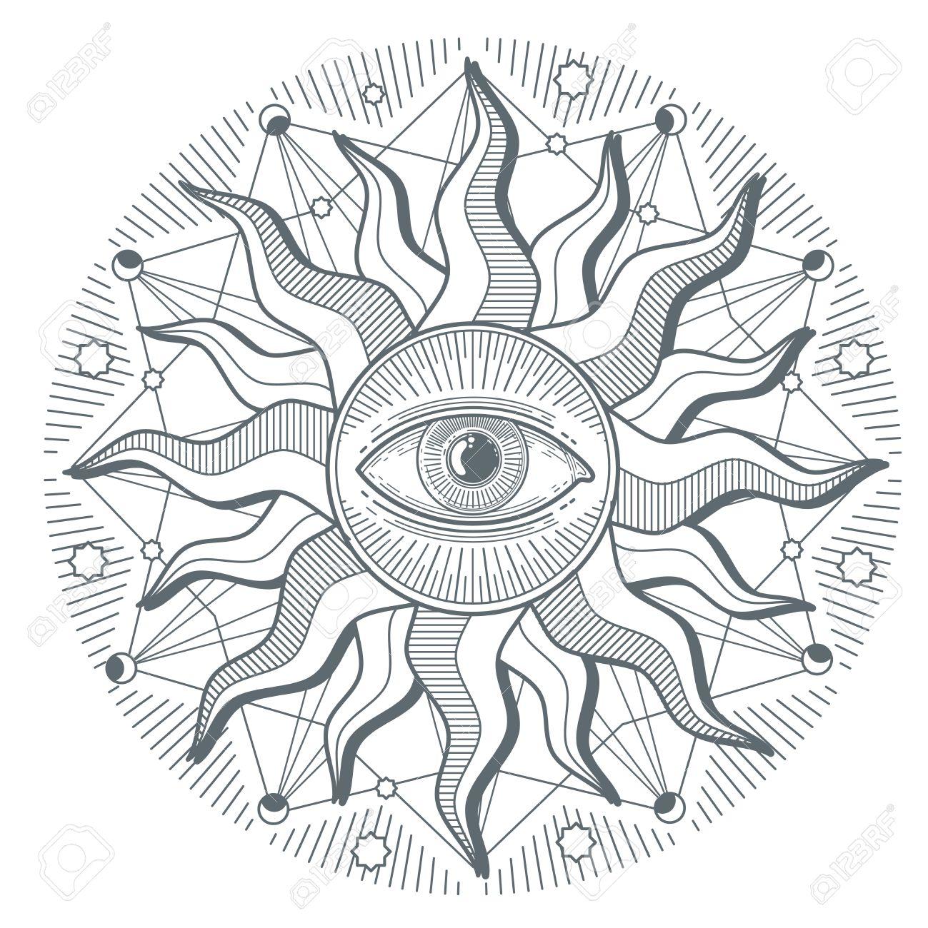 All seeing eye illuminati new world order vector freemasonry all seeing eye illuminati new world order vector freemasonry sign illustration of illuminati freemasonry symbol buycottarizona Images