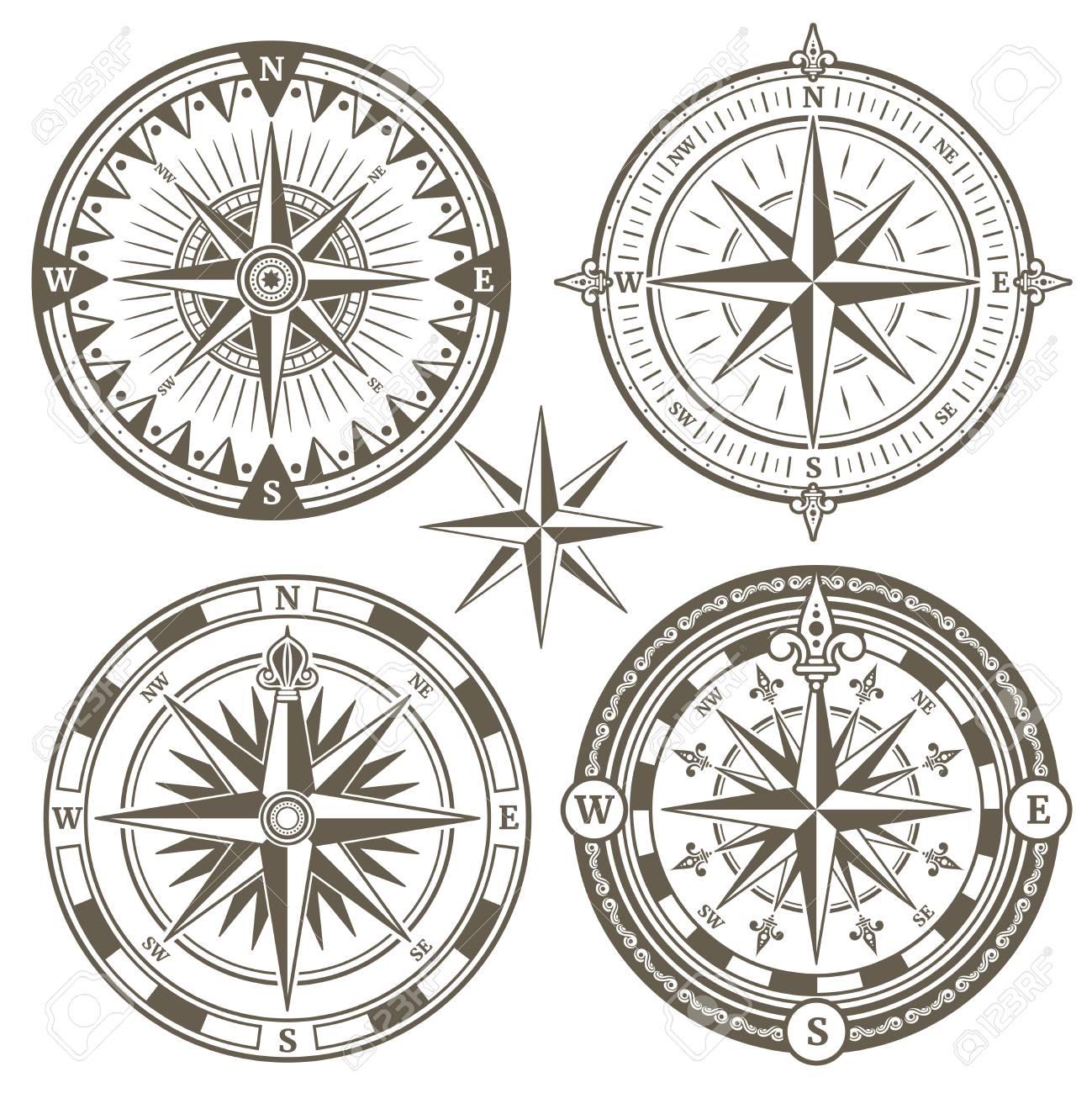 69364423-ancien-compas-de-navigation-mar